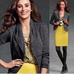 CABI Fleck Gray Cardigan Blazer Jacket Size XS